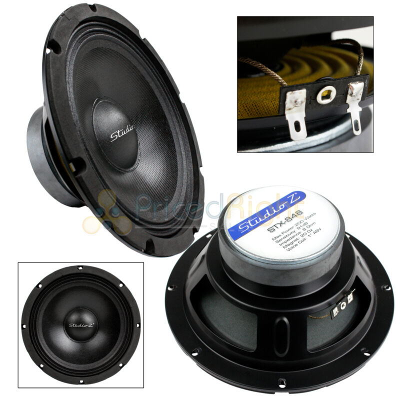 "8"" Subwoofer Speaker Replacement 8 Ohm Home Audio Or Dj Bass Driver Woofer New"
