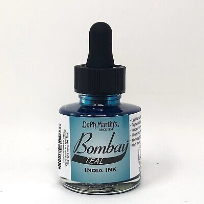Dr. Ph. Martin's Bombay India Ink 1.0 oz Teal NEW