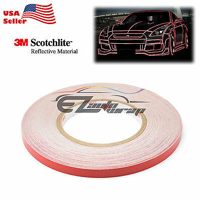 3M Red Reflective Tape Safety Self Adhesive Striping Sticker