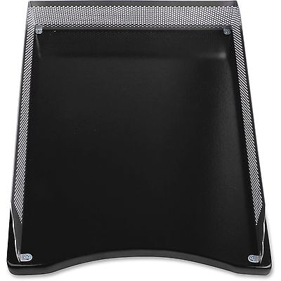 Lorell Metalwood Letter Tray Silverblack 80629