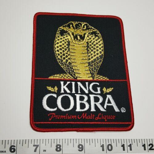 King Cobra Premium Malt Liquor Advertising Patch VTG Vintage Large