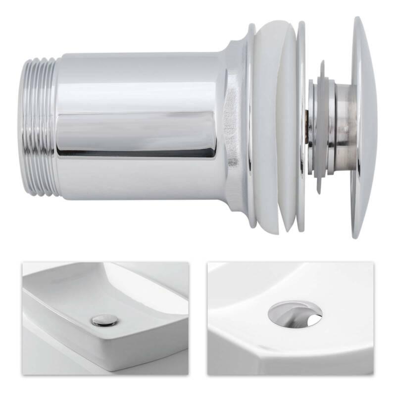 Ablaufgarnitur Pop Up Abfluss Ablauf Ventil Waschbecken Stöpsel Waschtisch DE