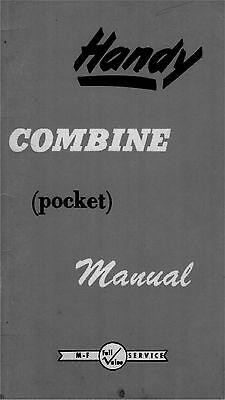 Massey Ferguson Handy Combine Pocket Manual