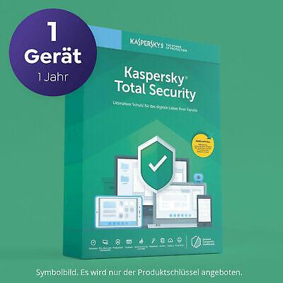 Kaspersky Total Security 2021 1 Gerät 1 Jahr digital per EMAIL direkt erhalten