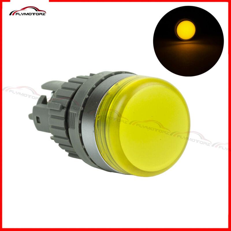 22mm Yellow LED 110V 120V Pilot Panel Indicator Light Lamp For Control Panel Box