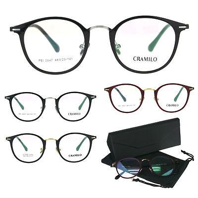Optical Quality Round Keyhole Circle Lens Horn Eyeglasses (Optical Keyhole)