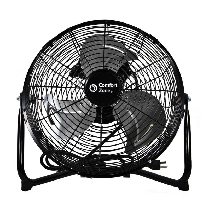 "Comfort Zone 12"" High-Velocity 3 Speed 180-Degree Cradle Fan, Black (Open Box)"
