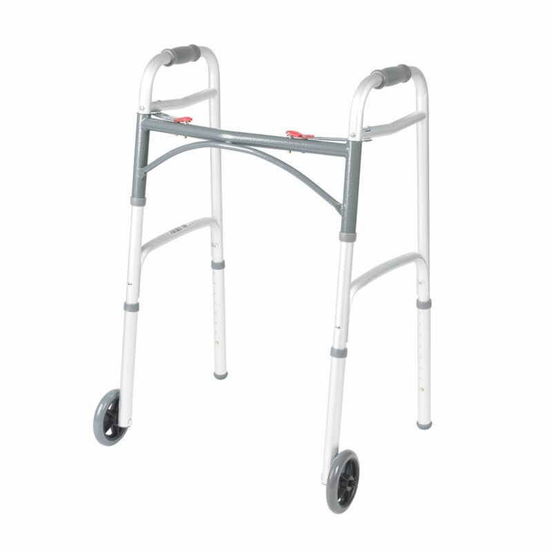 """McKesson Aluminum 32 to 39"""" H Folding Walker up to 350 lbs"""