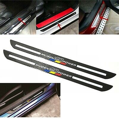 2Pcs Mugen Carbon Car Door Scuff Sill Cover Plates Panel Step Protector Sticker