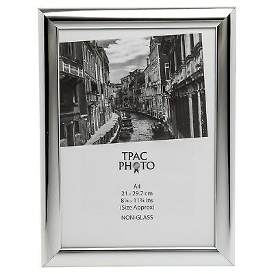 Shiny Silver A4 21x29.7cm Certificate Photo Picture Display Frame Table Wall