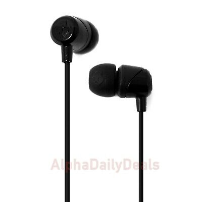 SkullCandy JiB In-Ear Earbuds Black Headphones with Mic In-Line Remote