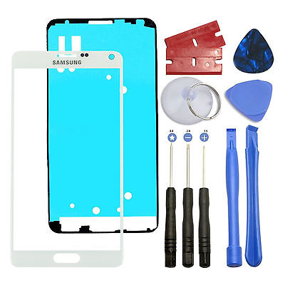 White Front Outer Lens Screen Glass Replacement for Samsung Galaxy NOTE 4 N910