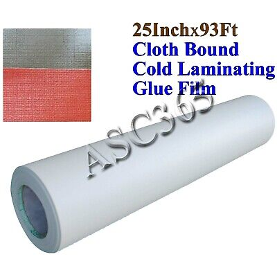 93ftx25in 0.69x31yard 3mil Cloth Bound Cold Laminating Film For Laminator