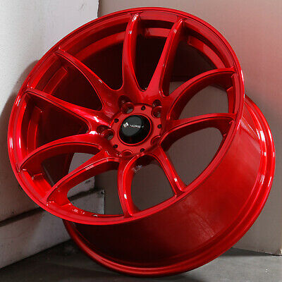 17x8 Candy Red Wheels Vors TR4 5x114.3 35 (Set of 4)
