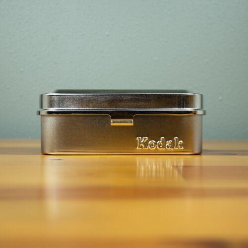 Kodak Vintage 35mm Film Case Radiant Silver - Hold 5 Rolls of Film