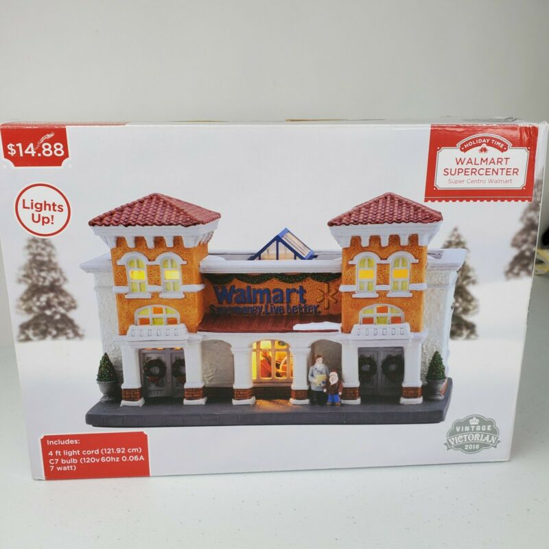 2016 Holiday Time Walmart Supercenter Vintage Victorian Christmas Lighted Store