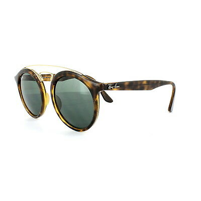 Ray-ban Sonnenbrille Gatsby 4256 609255 Matt Havana Blau Spiegel Groß 49mm