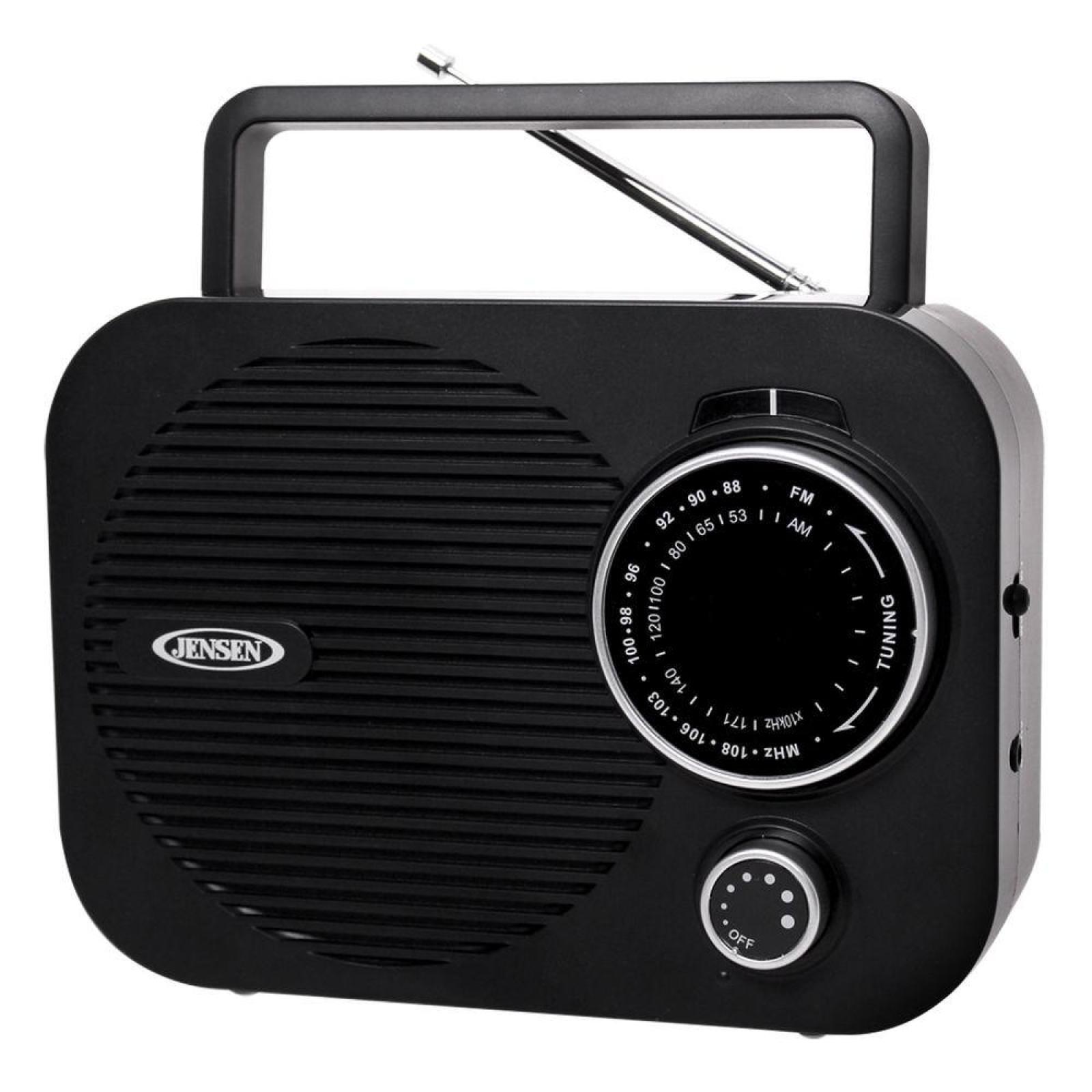 JENSEN Portable AM/FM Radio Classic Vintage iPod MP3 Digital