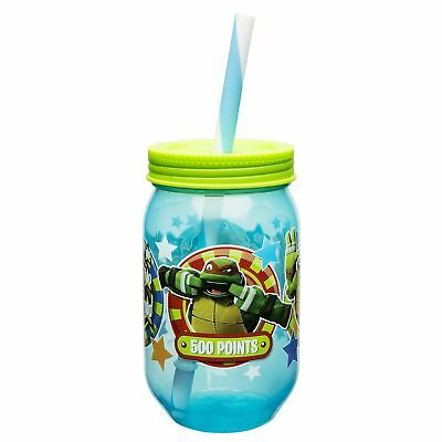 Zak! Designs Mason Jar Tumbler with Screw-on Lid and Straw Featuring Teenage ...](Mason Jar With Straw)