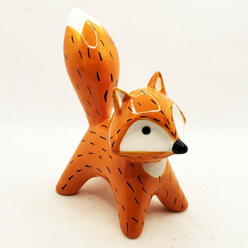 Woodland Critter red ceramic fox figurine