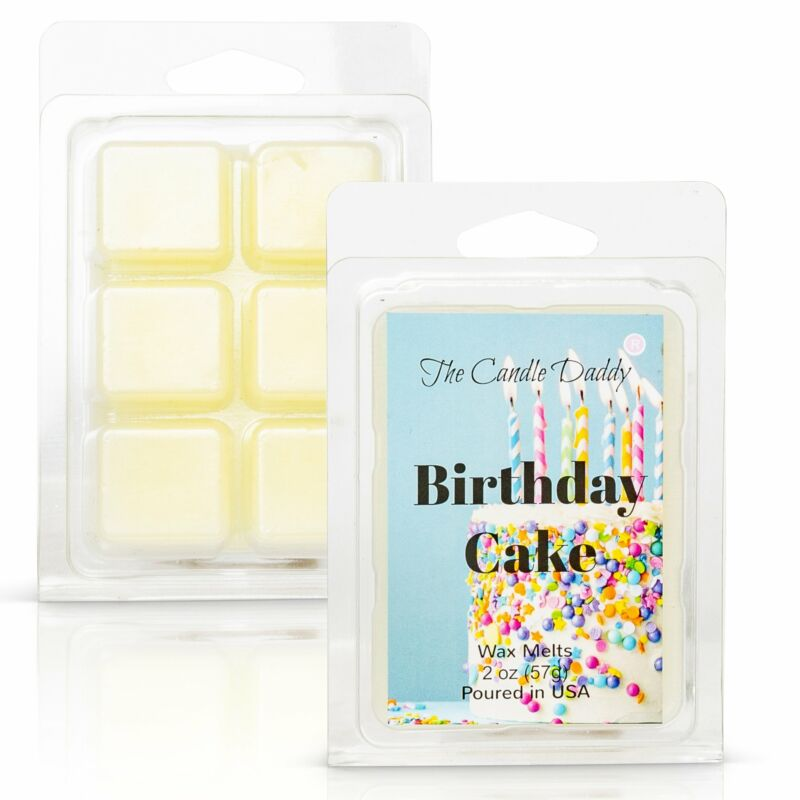Birthday Cake - Cake Scented Melt- Maximum Scent Wax Cubes/Melts- 1 Pack -2 Ounc