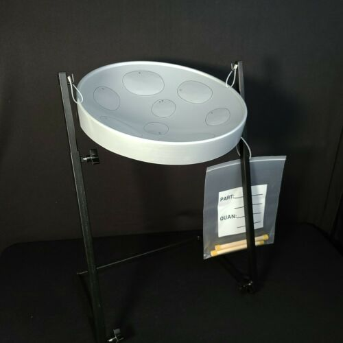 Panyard W1070 Jumbie Jam Authentic Steel Pan Drum with Stand (Silver)
