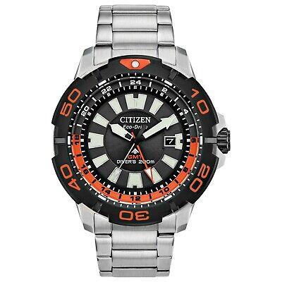 Citizen Eco-Drive Promaster GMT Men's Silver-Tone 44mm Diver's Watch BJ7129-56E