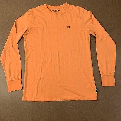 Billabong Mens Size Medium Orange Long Sleeve Crew Neck Shirt