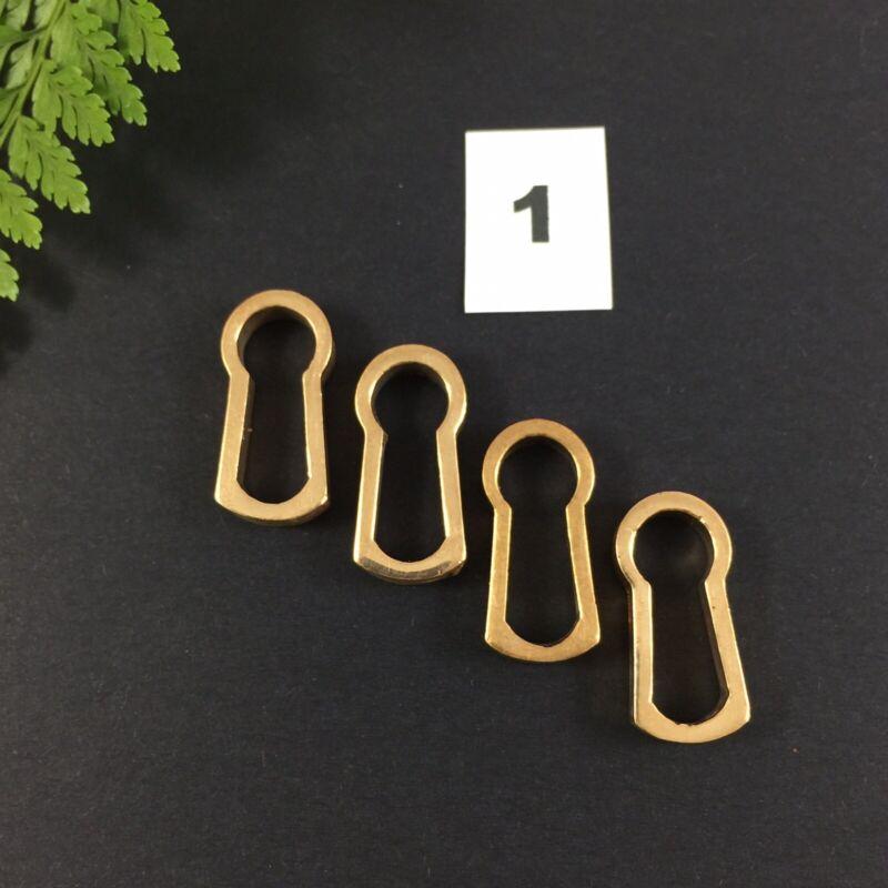 4 x Bronze Key Escutcheon Antique Furniture Restoration Keyhole Insert Size 1