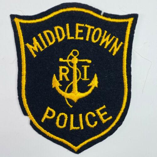 Middletown Police Newport County Rhode Island Felt Patch (A1)