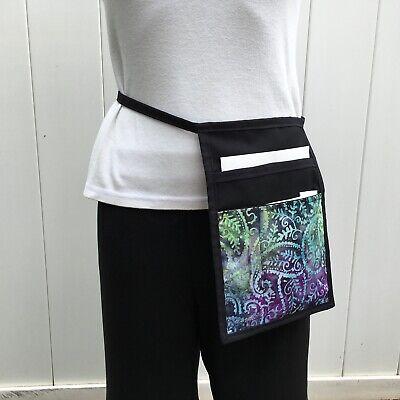 Bright Tie-dye Ipad Mini Pocket Side Hip Apron Waiter Waitress Money Pouch Black