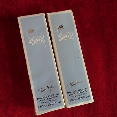 2 X Angel Innocent Thierry Mugler Shower Mousse for Women 3.5 oz New IMPERFECT 3.5 Ounce Shower Mousse