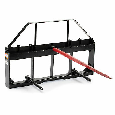 Titan 48 Skid Steer Pallet Fork Frame With 32 Hay Spears And Stabilizers