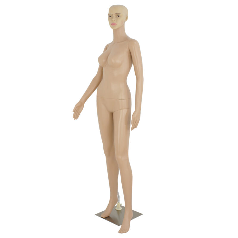 Female Mannequin Realistic Adjustable Full Body Shop Display Head Turns W/ Base