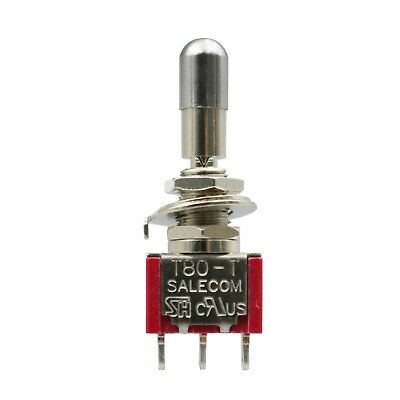 2pcs Sh T8014-lk Lock Type On-off-on 3position 3pin Mini Toggle Switch Spdt