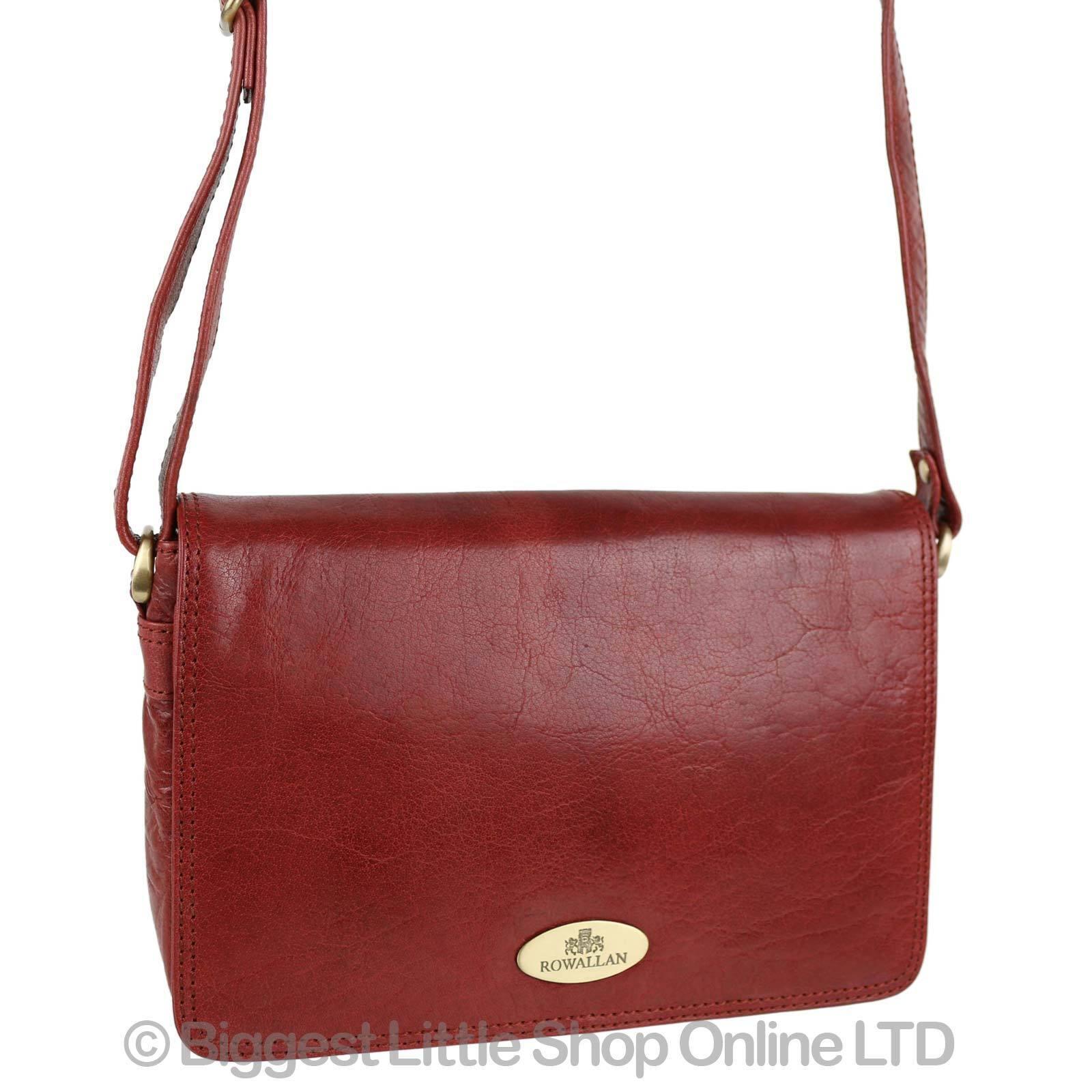 New Las Leather Cross Body Bag Handbag By Rowallan Razzano Shoulder Maroon