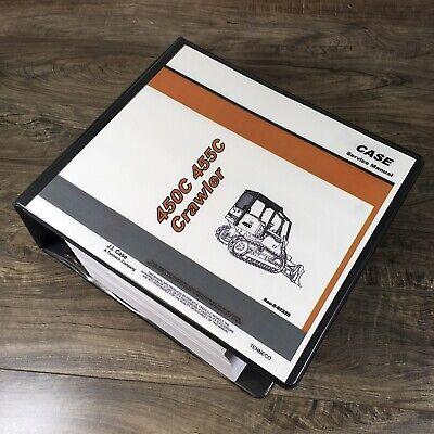 Case 450c 455c Crawler Loader Dozer Service Manual Repair Shop Bulldozer