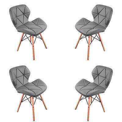 Pack 4 sillas de comedor gris nórdico diseño sillas de acero de pierna