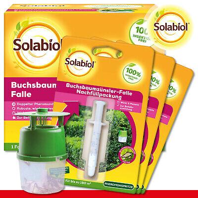 Sbm Solabiol Set: 1 X Buchsbaumzünsler-falle + 3 X Nachüllpack