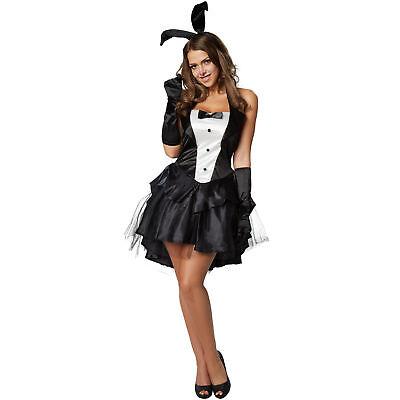 Halloween Kostume (Damen Kostüm heißes Häschen Hase Fasching Halloween Kleid sexy Bunny Hase Erotik)