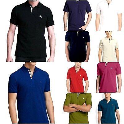 Burberry Brit Mens Short Sleeve Nova Check Placket Polo Shirt New  175