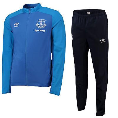 Everton Training Knitted Trainingsanzug Sweatshirt Sporthose Blau Herren Umbro