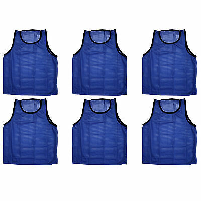 Set of 6 pieces of Scrimmage Vests Pinnies Soccer ~ Youth Blue