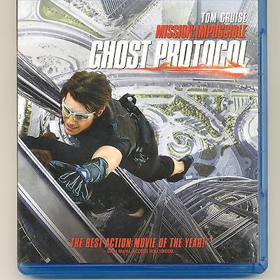 Mission Impossible Ghost Protocol 2011 PG-13 spy movie, mint Blu-ray Tom (13 Ghost Movie)