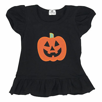 Girls Halloween Pumpkin Shirt Boutique Toddler Kids Clothes 2t 3t 4t USA