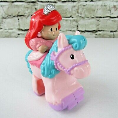 Fisher Price Little People Disney Princess Castle Klip Klop Ariel Pink Horse