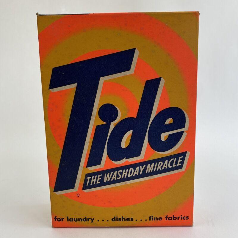Vintage Box Of Tide Laundry Detergent Advertising Prop Sealed Unused 20 oz