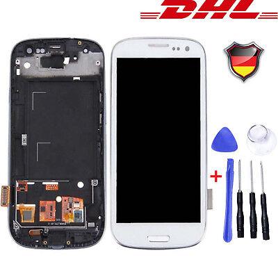 Für Samsung Galaxy S3 i9300 i9305 Touch Screen + LCD Bildschirm Display Weiß #DE ()