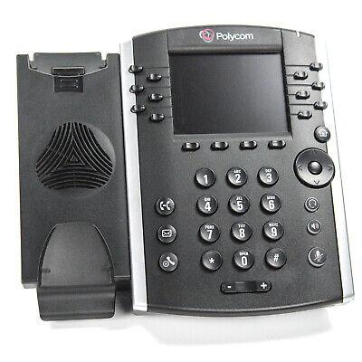 Polycom Vvx 400 Gigabit Display Ip Voip Desk Phone 2201-46104-001 Base Unit Only