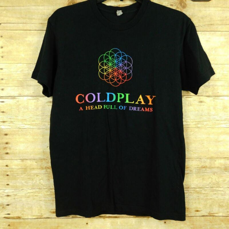 Coldplay A Head Full Of Dreams World Tour 2016 T Shirt Small